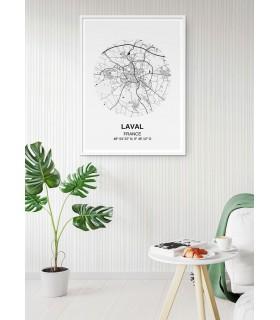 Affiche Carte Laval