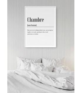 Affiche Définition Chambre