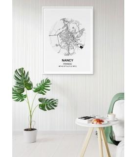 Affiche Carte Nancy