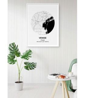Affiche Carte Venise