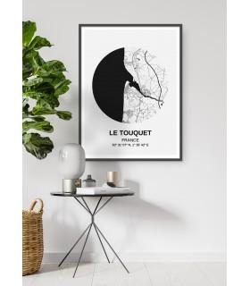 Affiche Carte Le Touquet