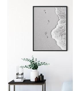 Affiche Nature Plage noir et blanc