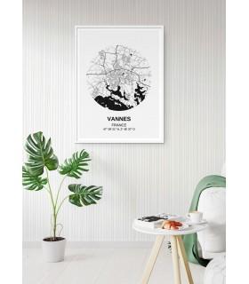 Affiche Carte Vannes
