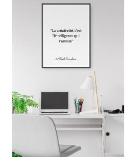 """Affiche Einstein """"La créativité..."""""""