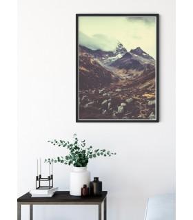Affiche nature Col de montagne