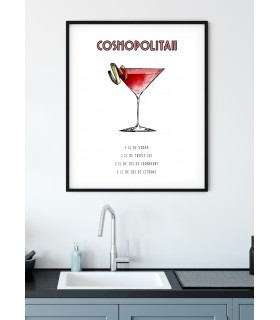 Affiche Cocktail Cosmopolitan