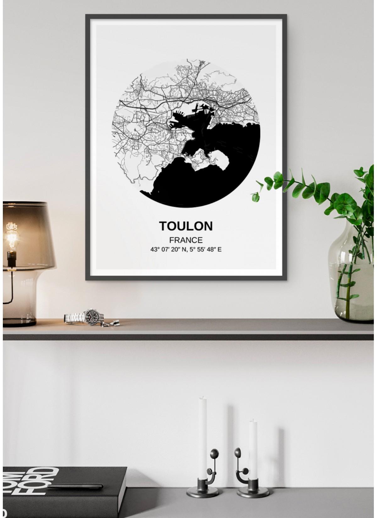 Affiche Carte Toulon