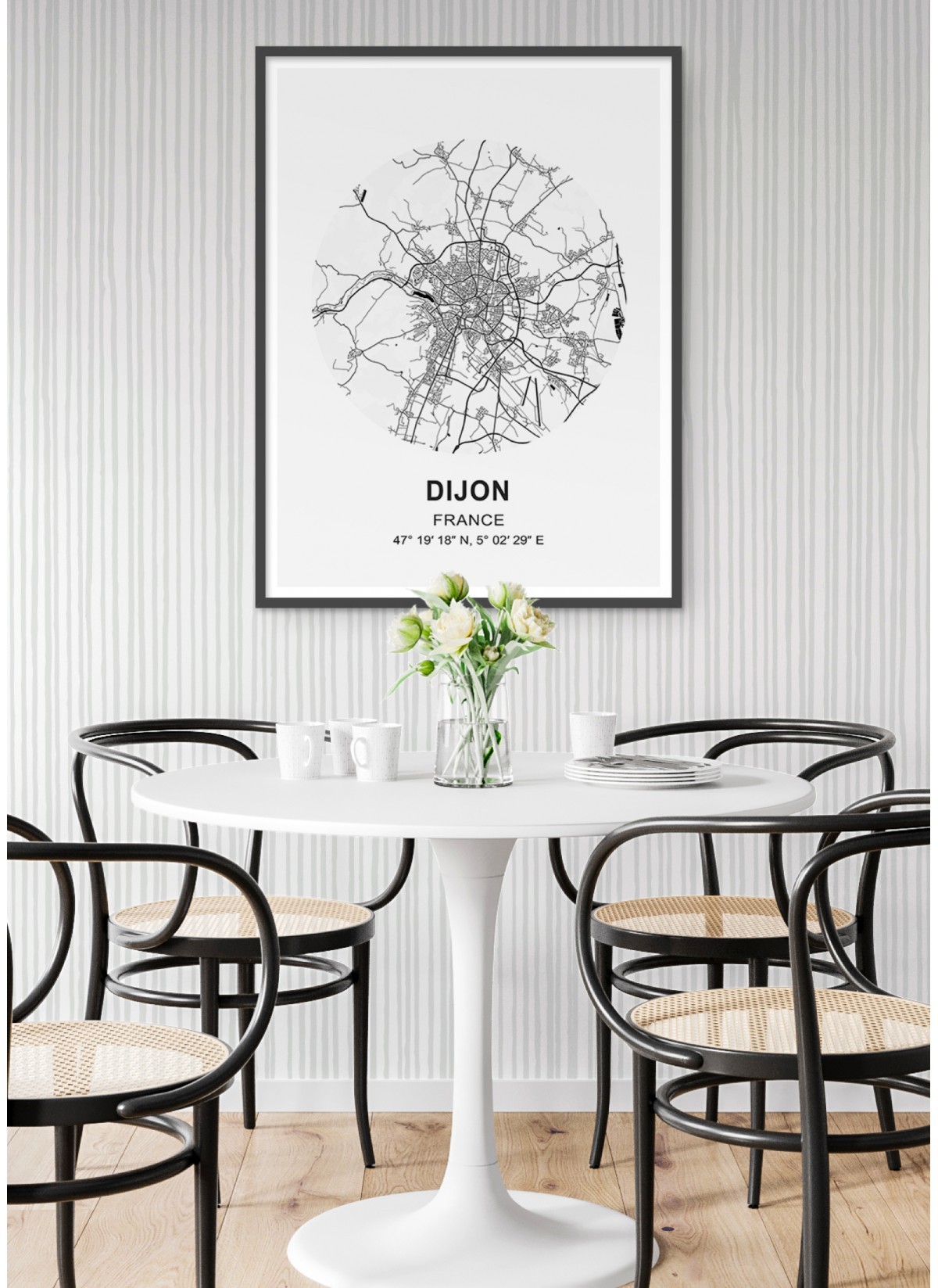 Affiche Carte Dijon