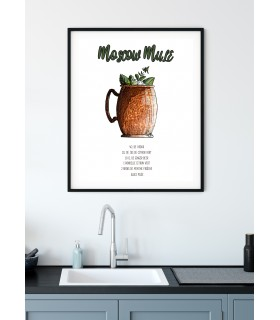 Affiche Cocktail Moscow Mule