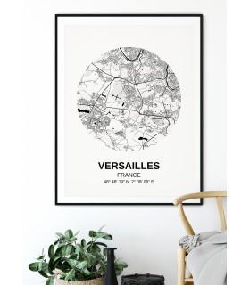 Affiche Carte Versailles