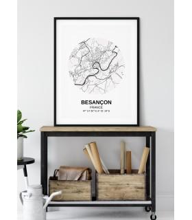 Affiche Carte Besançon