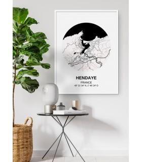 Affiche Carte Hendaye