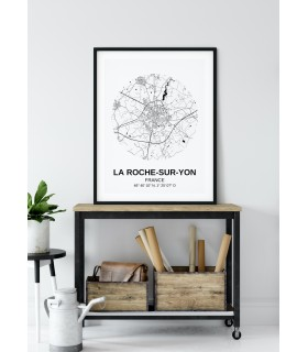 Affiche Carte La Roche-sur-Yon