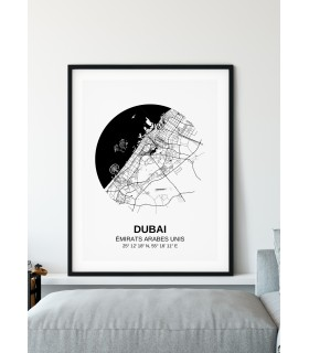 Affiche Carte Dubai