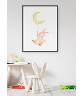 Poster Lapin Volant