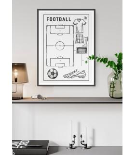 Affiche Terrain de foot