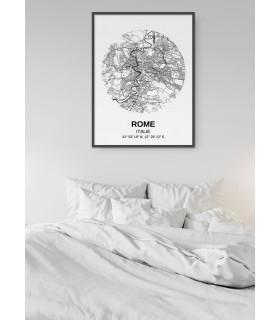 Affiche Carte Rome