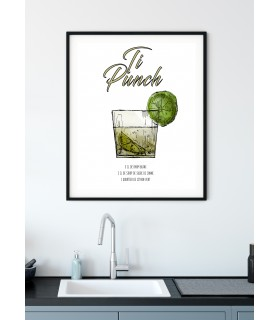 Affiche Cocktail Ti Punch