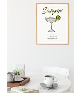 Affiche Cocktail Daïquiri
