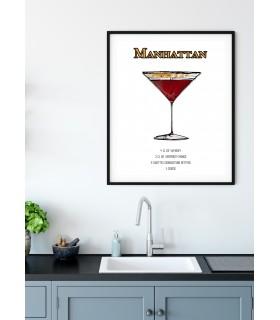 Affiche Cocktail Manhattan