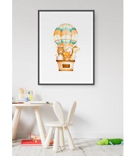 Affiche Montgolfière des Animaux