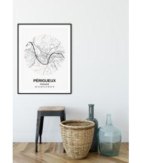Affiche Carte Périgueux