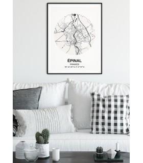 Affiche Carte Épinal