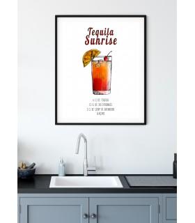 Affiche Cocktail Tequila Sunrise