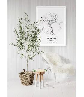 Affiche Carte Lourdes