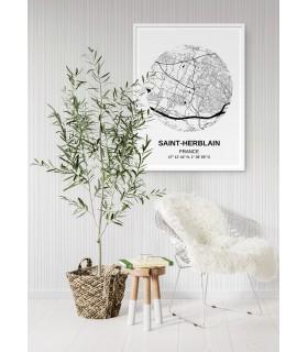 Affiche Carte Saint Herblain
