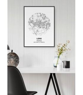Affiche Carte Lens