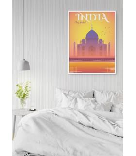 Affiche Inde Taj Mahal