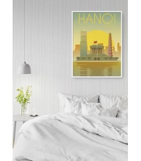 Affiche Vietnam Hanoi