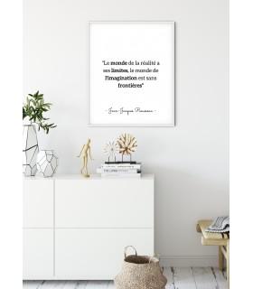 """Affiche Rousseau : """"Le monde de la réalité a ses limites"""""""