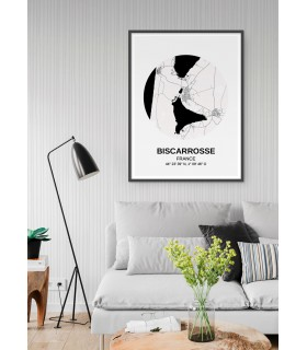 Affiche Carte Biscarrosse