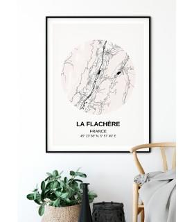 Affiche Carte La Flachère