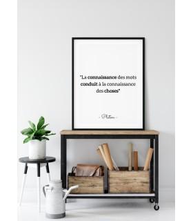"""Affiche Platon : """"La connaissance des mots"""""""