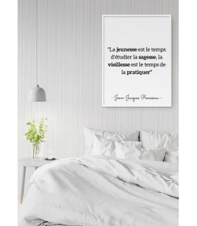 """Affiche Rousseau : """"La jeunesse est le temps d'étudier"""""""