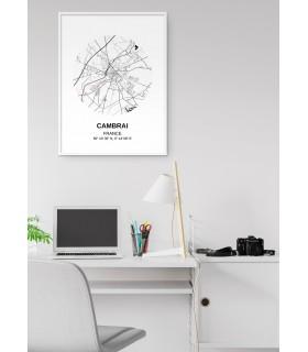 Affiche Carte Cambrai