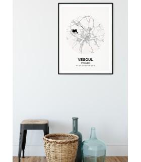 Affiche Carte Vesoul