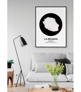 Affiche Carte La Réunion