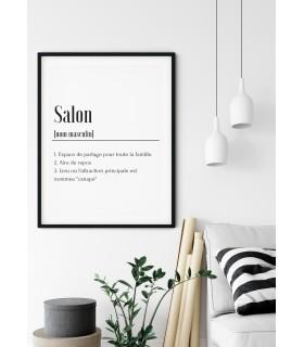 Affiche Définition Salon