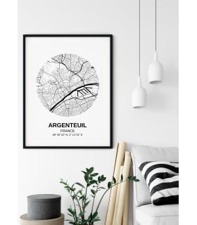 Affiche Carte Argenteuil