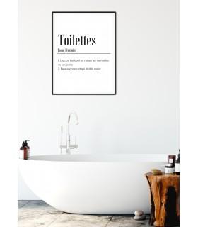Affiche Définition Toilettes