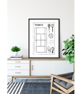 Affiche Terrain de tennis