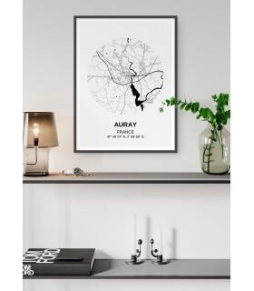 Affiche Carte Auray