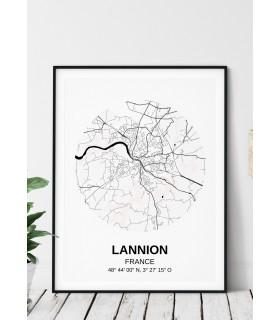 Affiche Carte Lannion