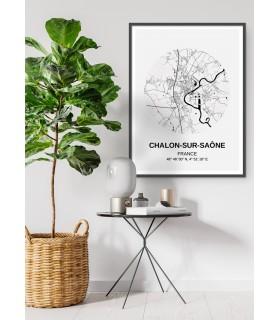 Affiche Carte Chalon-sur-Saône