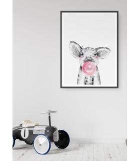 Affiche Bulle de bébé cochon