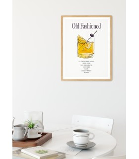 Affiche Cocktail Old Fashioned